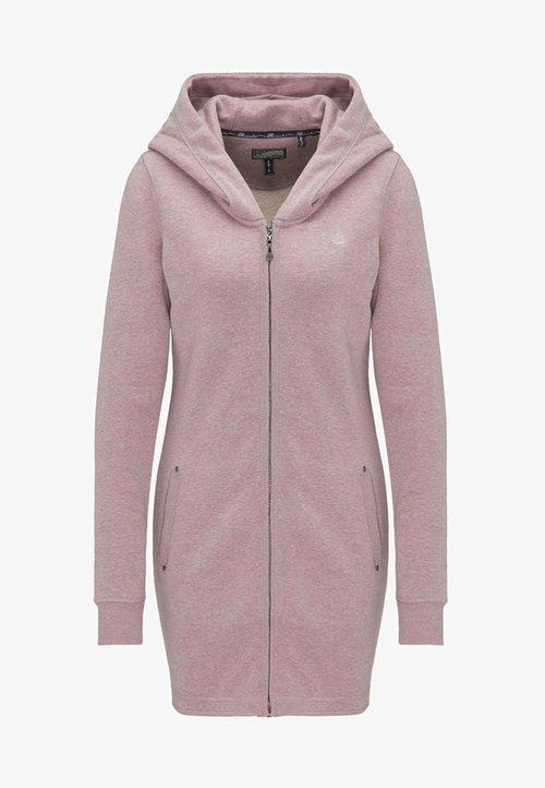 Dreimaster Bluza rozpinana - mottled light pink Odzież Damska THJL-BR7 30% OBNIŻONE