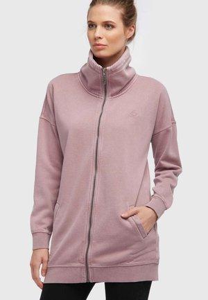 Zip-up hoodie - dark pink