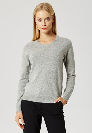 Sweter - light grey melange