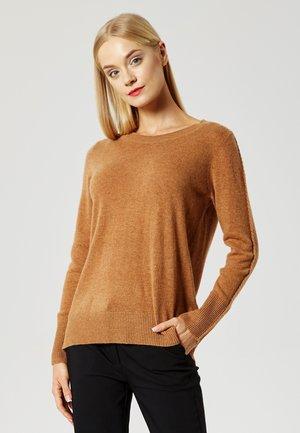 Jersey de punto - karamell