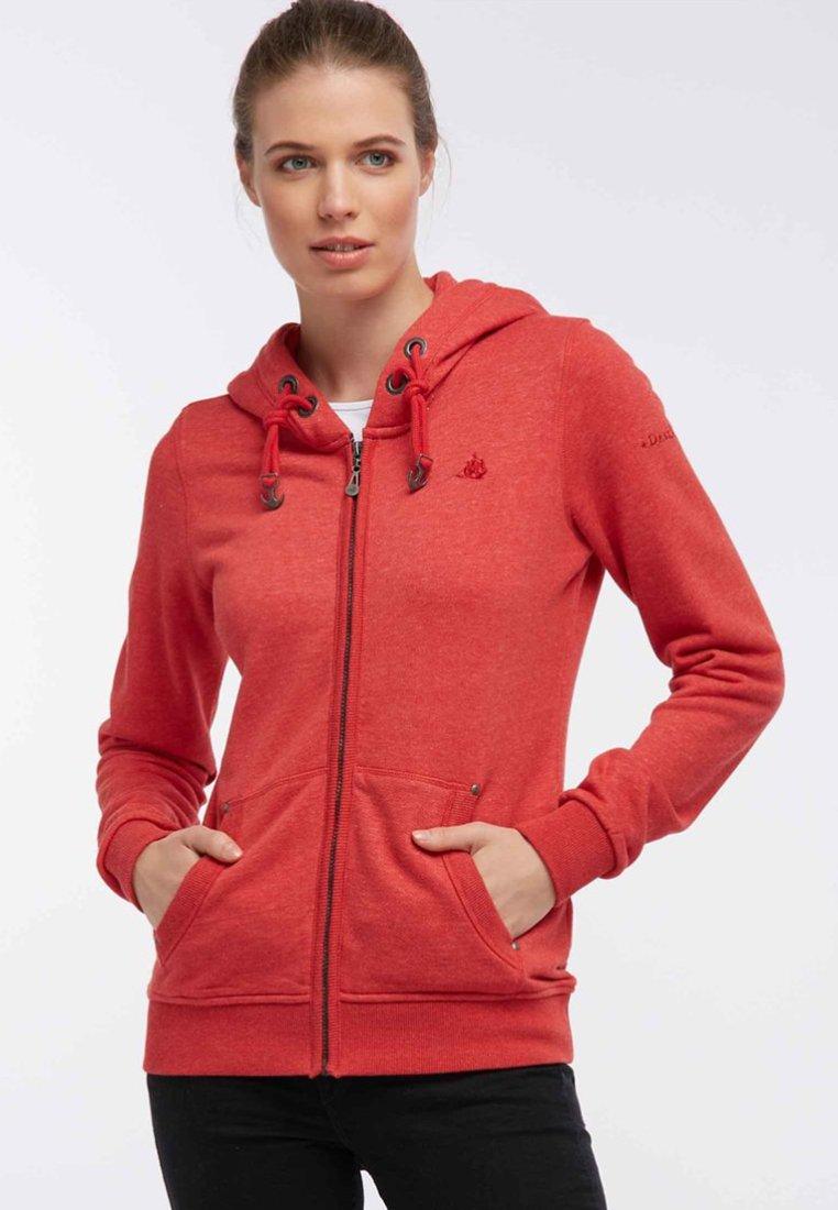 Dreimaster - Zip-up hoodie - dark red melange