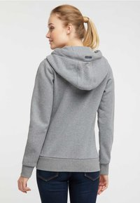 DreiMaster - Felpa aperta - mottled grey - 2