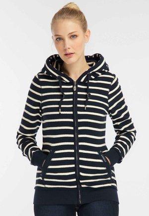 Zip-up hoodie - navy/white