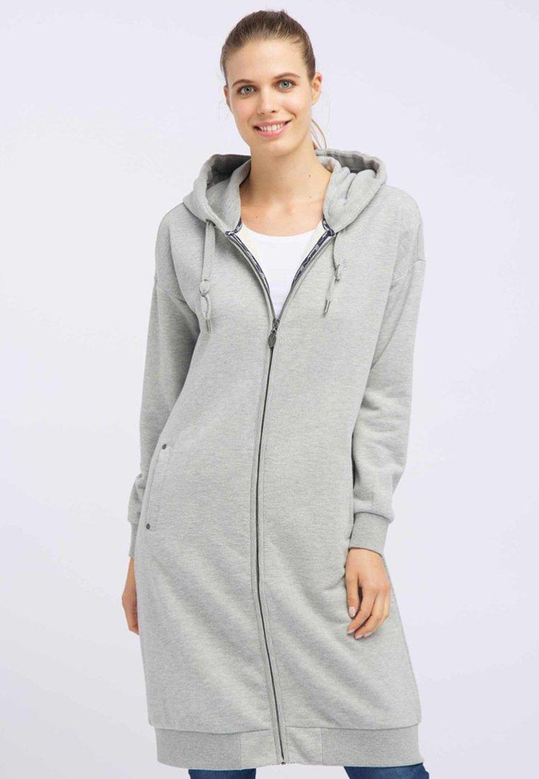 DreiMaster - Zip-up hoodie - light grey melange