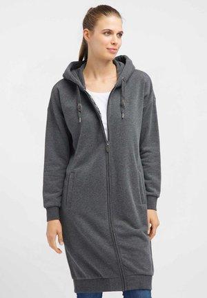 Zip-up hoodie - anthrazit melange