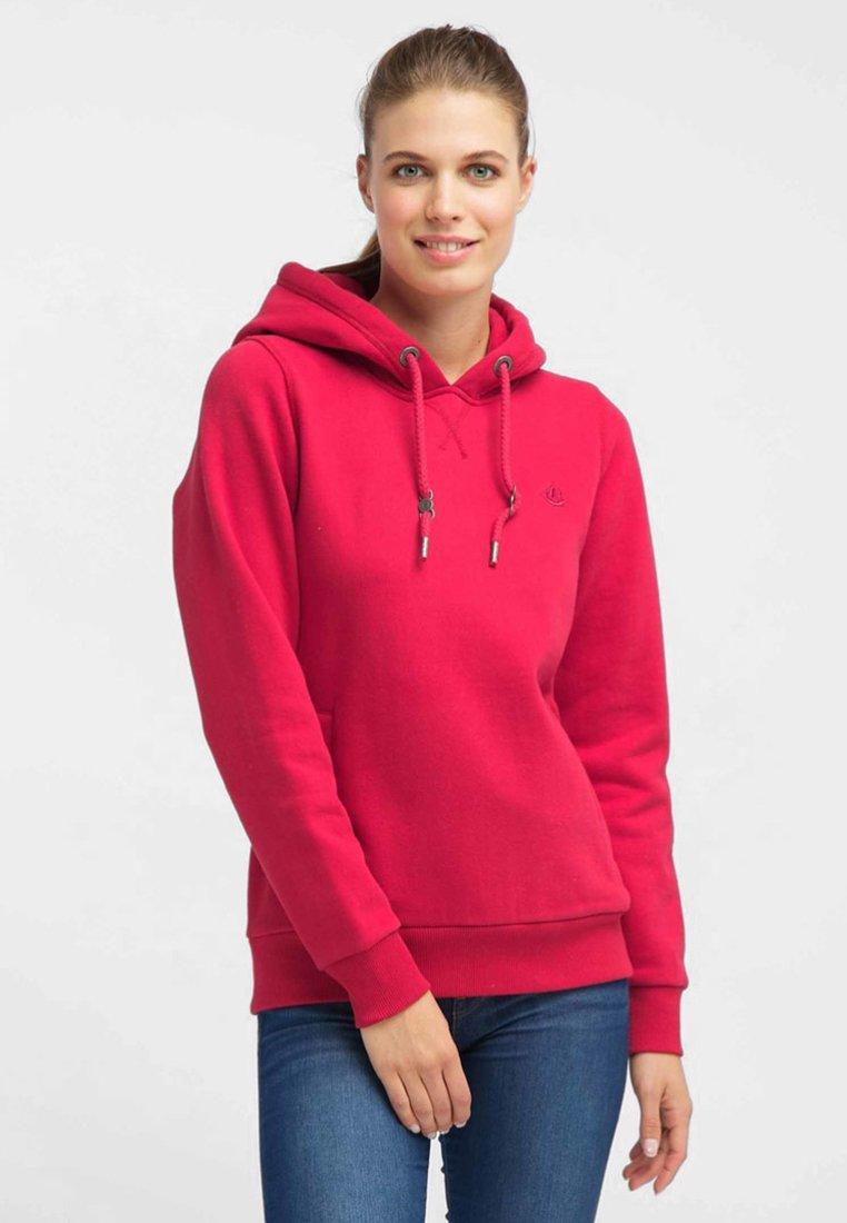 Czerwone Bluzy damskie z kapturem znanych marek. Moda i