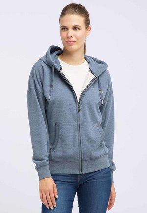 veste en sweat zippée - marine melange