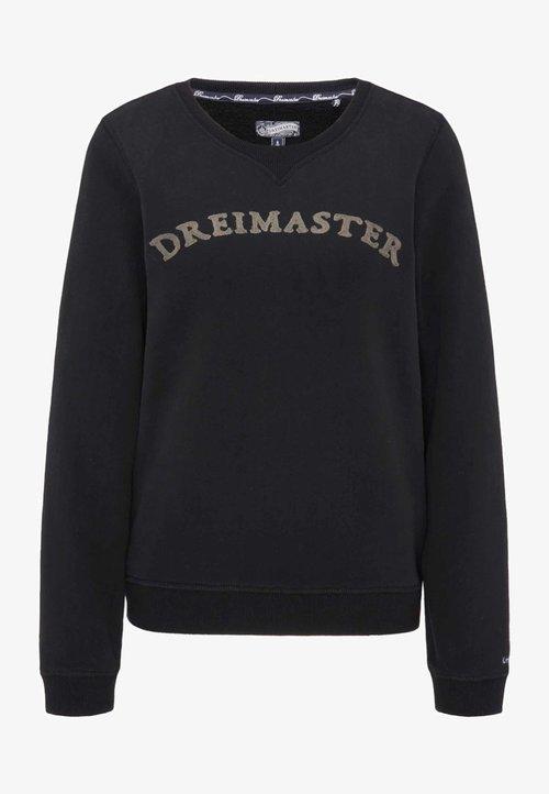 wylot Dreimaster Bluza - black Odzież Damska KXVU-KU4