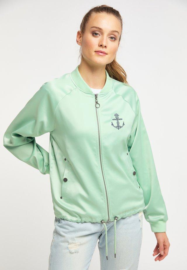 Zip-up hoodie - neo mint
