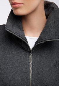 DreiMaster - SWEATJACKE - Zip-up hoodie - grau melange - 3