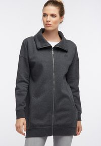 DreiMaster - SWEATJACKE - Zip-up hoodie - grau melange - 0