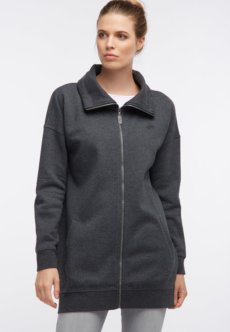 DreiMaster - SWEATJACKE - Zip-up hoodie - grau melange
