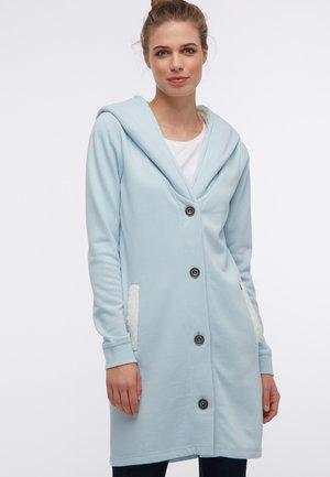 Zip-up hoodie - rauch mint