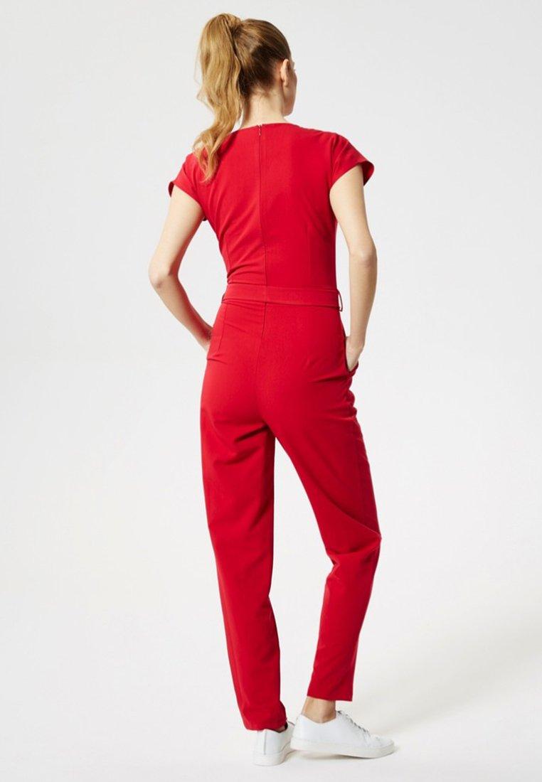 Dreimaster Tuta jumpsuit red