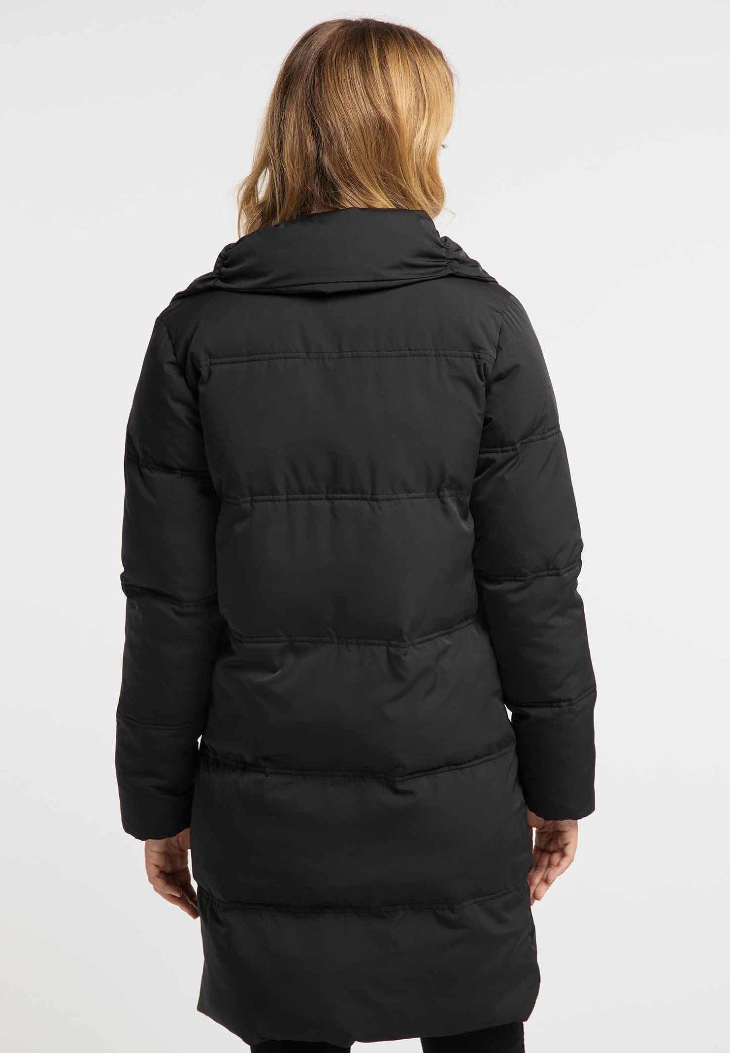 DreiMaster Płaszcz zimowy - black
