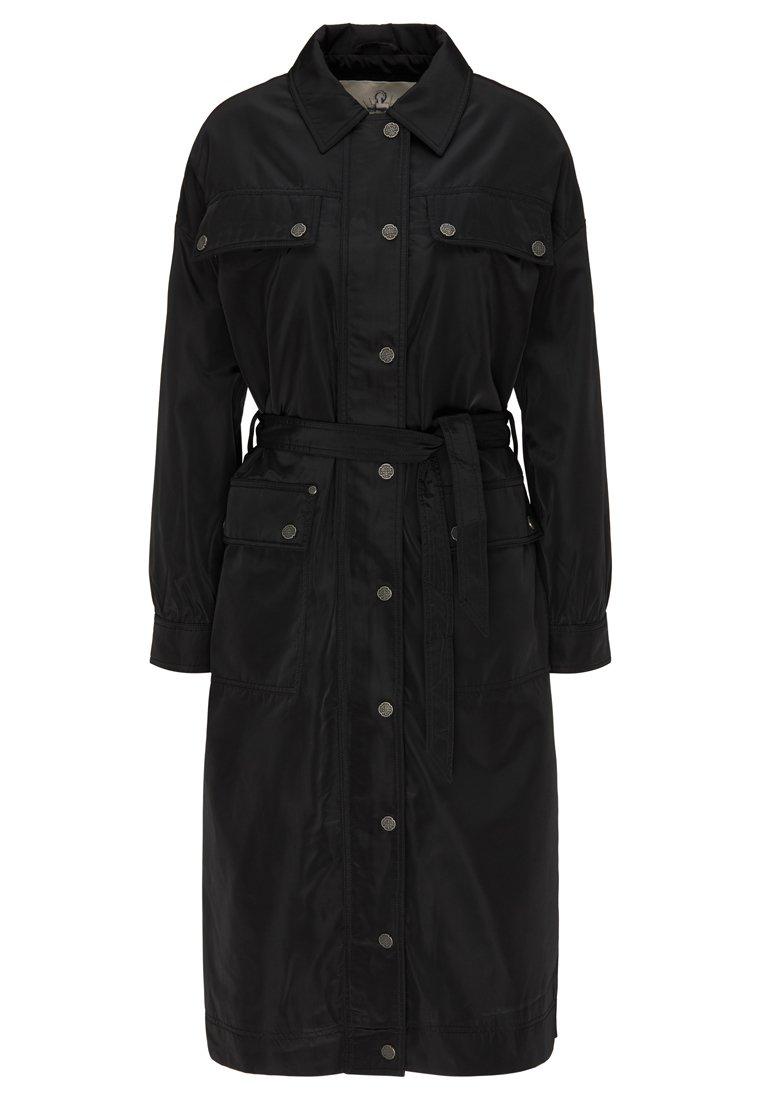 DreiMaster Płaszcz wełniany /Płaszcz klasyczny - black