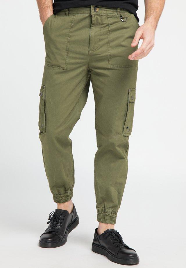 Pantalones cargo - military green