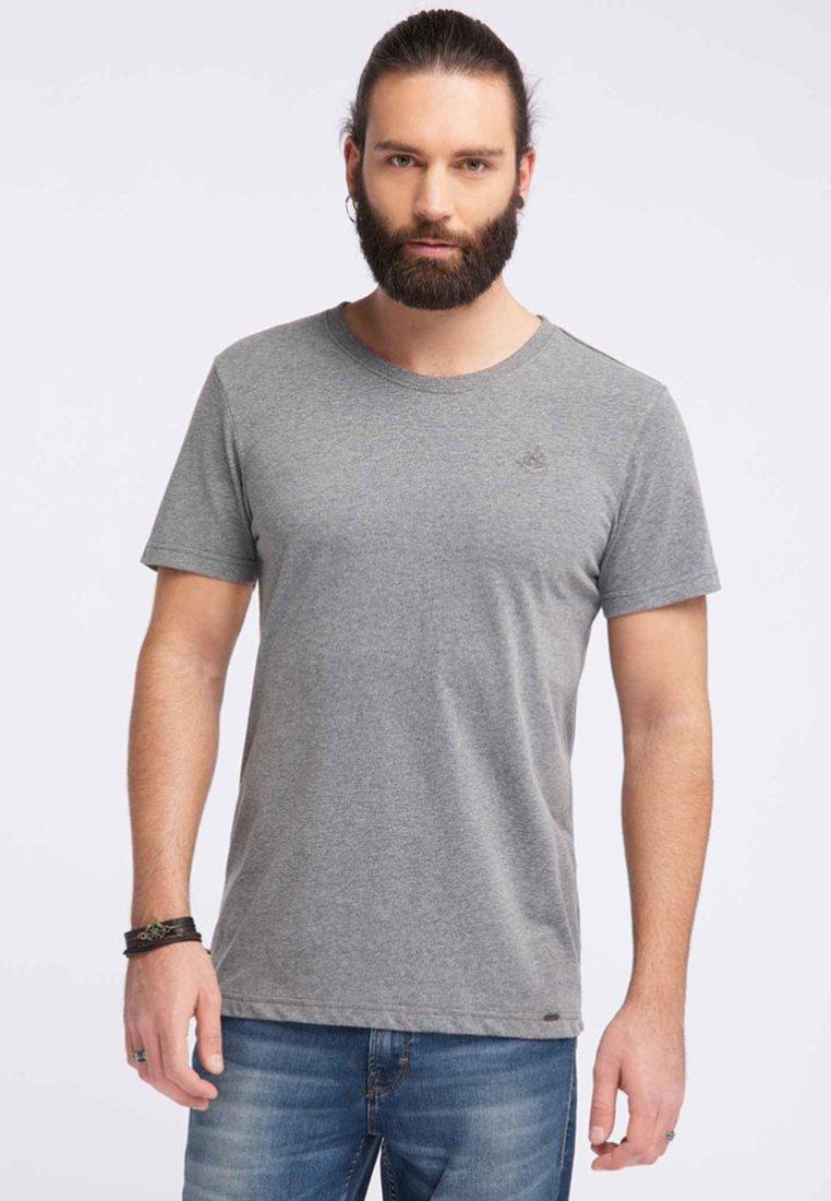 Dreimaster - T-shirts print - grey melange