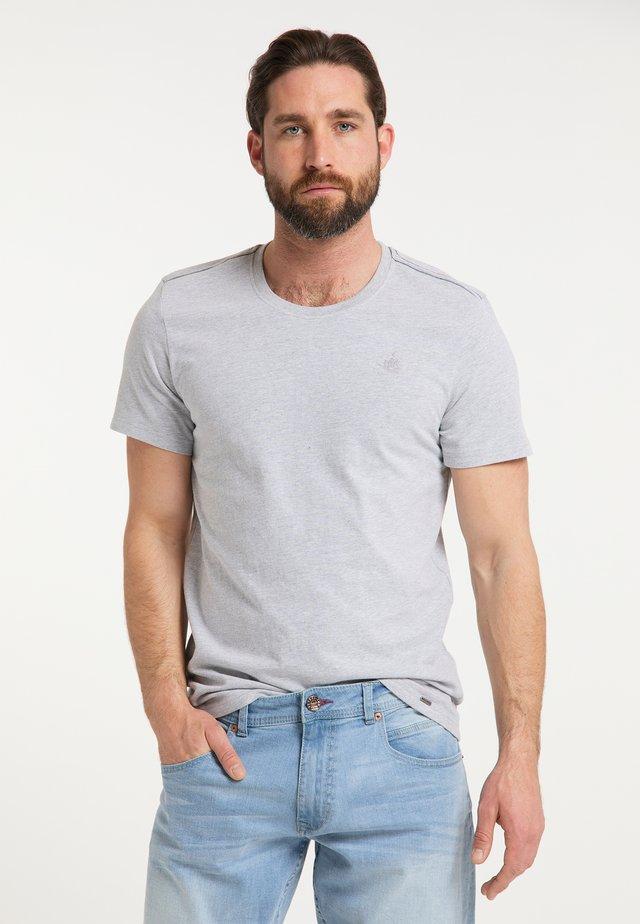 Basic T-shirt - hellgrau melange