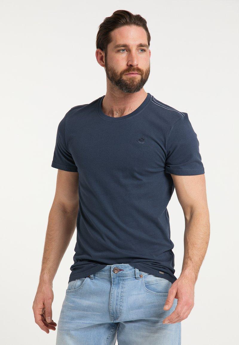 DreiMaster - DREIMASTER T-SHIRT - Print T-shirt - marine