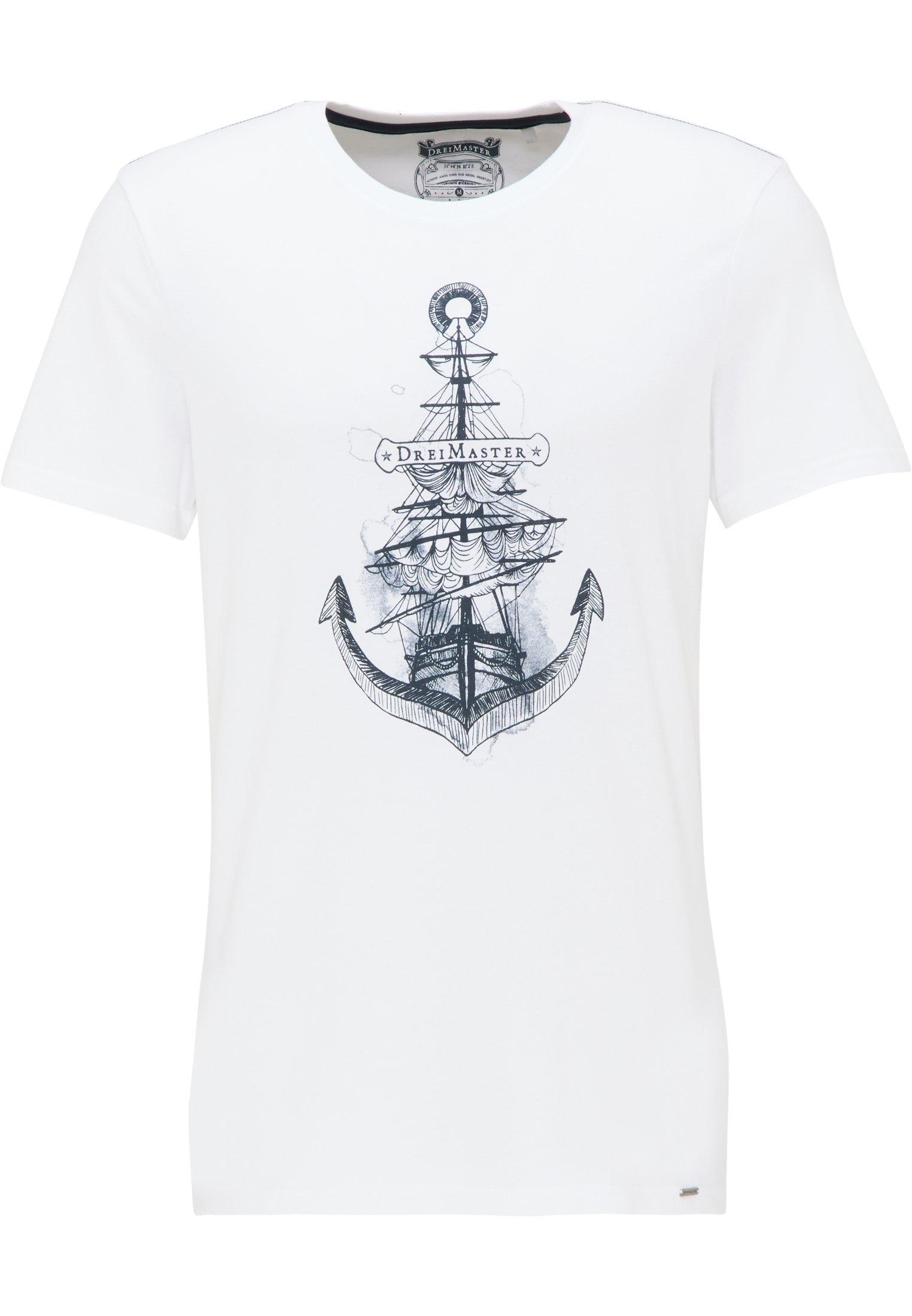 Dreimaster T-shirt - Printtipaita Weiss