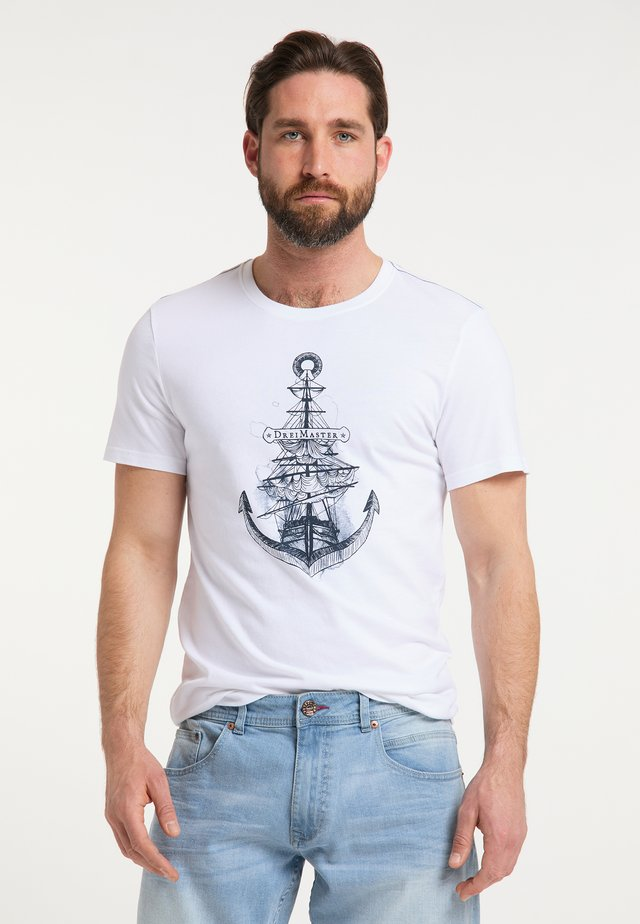 DREIMASTER T-SHIRT - T-shirt print - weiss