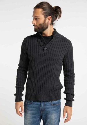 Pullover - mottled anthracite