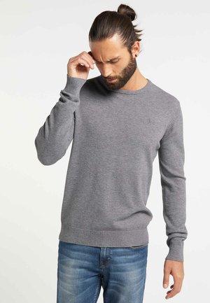 Strickpullover - light gray melange