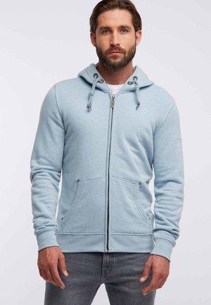 veste en sweat zippée - mottled light blue