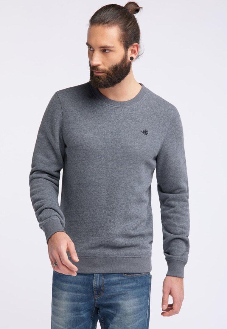Dreimaster - Sweatshirt - navy grey melange