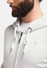 DreiMaster - veste en sweat zippée - wool white melange - 3