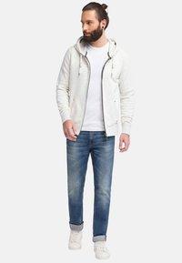 DreiMaster - veste en sweat zippée - wool white melange - 1