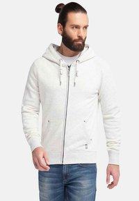 DreiMaster - veste en sweat zippée - wool white melange - 0