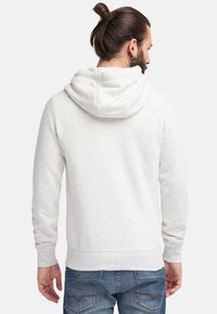 DreiMaster - veste en sweat zippée - wool white melange - 2