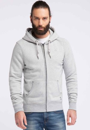 veste en sweat zippée - light gray melange