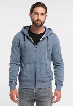 veste en sweat zippée - mottled blue