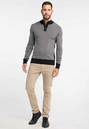 Jersey de punto - dark grey melange