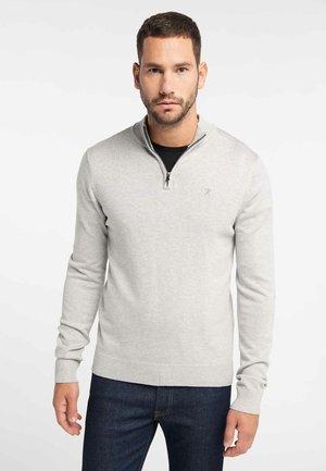 STRICK PULLOVER - Jumper - mottled light grey