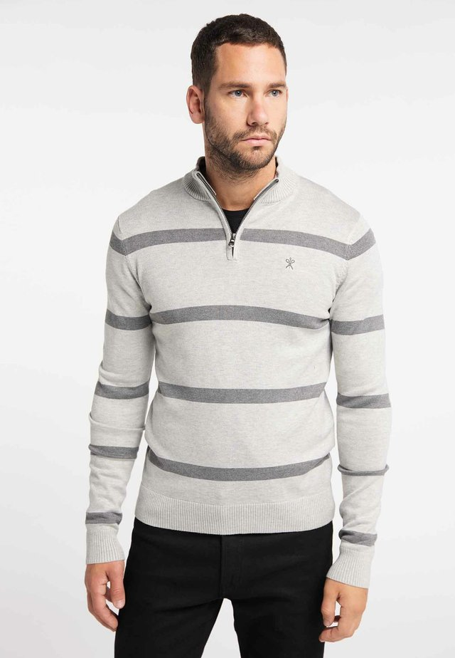 Jersey de punto - mottled light grey
