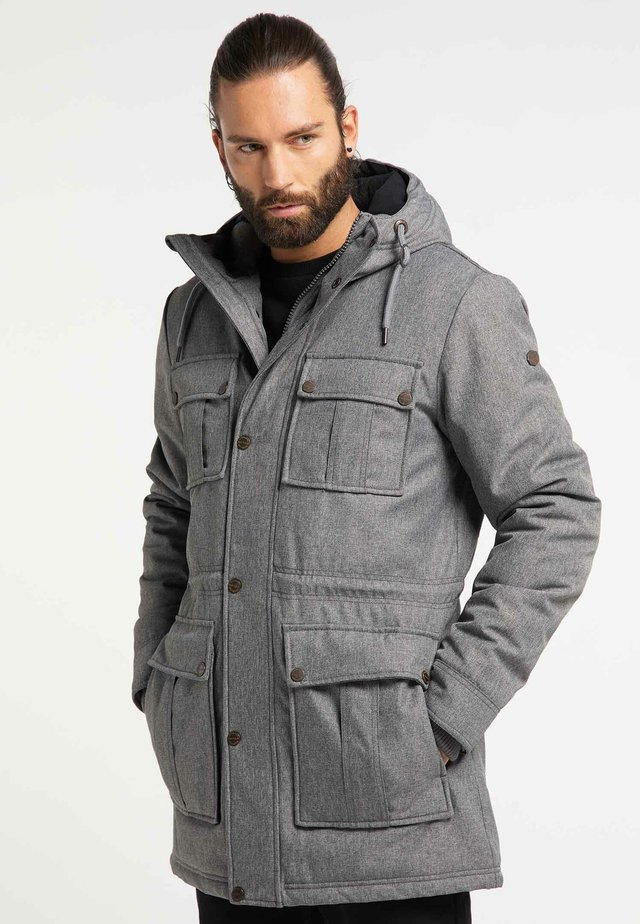 Winter coat - grey melange