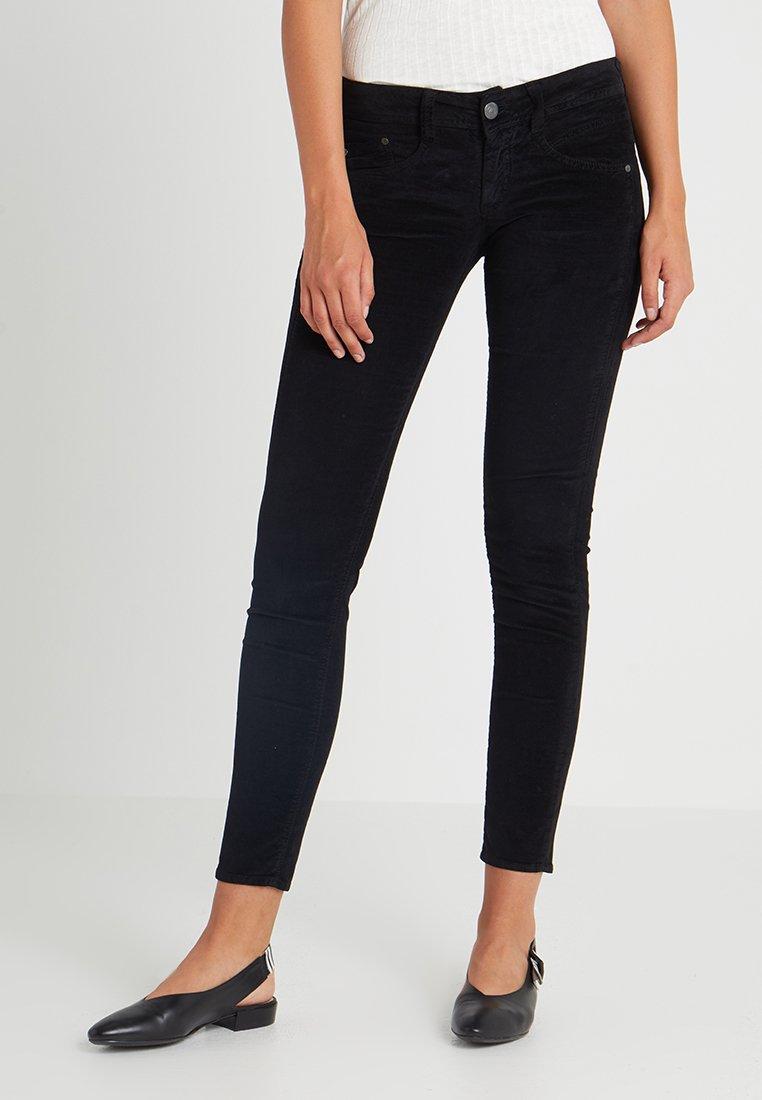 Herrlicher - GILA VELVET STRETCH - Trousers - black