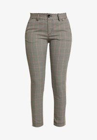Herrlicher - LOVELY POLY STRIPE CHECK - Trousers - beige - 4