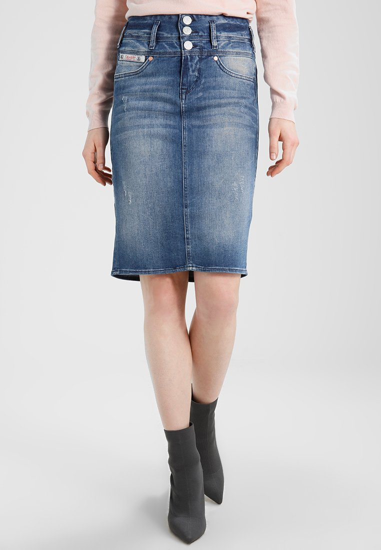 Herrlicher - RAYA SKIRT - Gonna di jeans - bloom