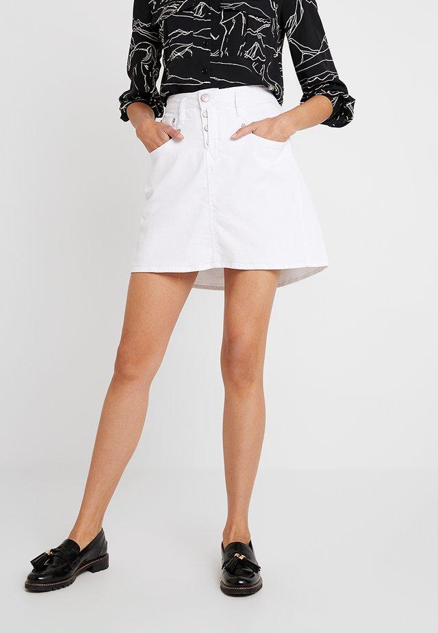SHYRA SKIRT DRILL  - Jupe trapèze - white