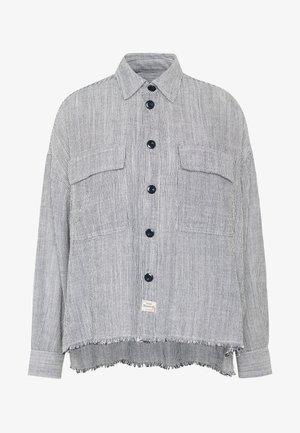 LASH CHAMBRAY STRIPES - Button-down blouse - white