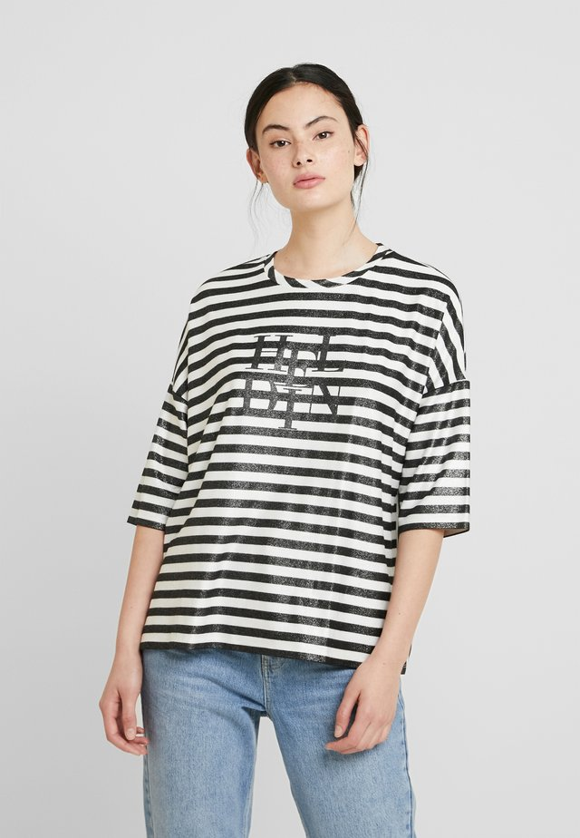 HELYN STRIPED - Sweater - black