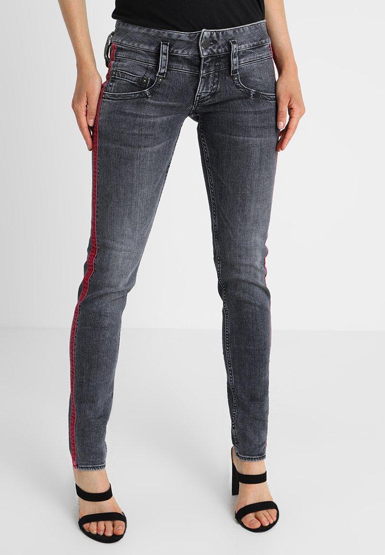 Herrlicher - PITCH SLIM - Slim fit jeans - darkness