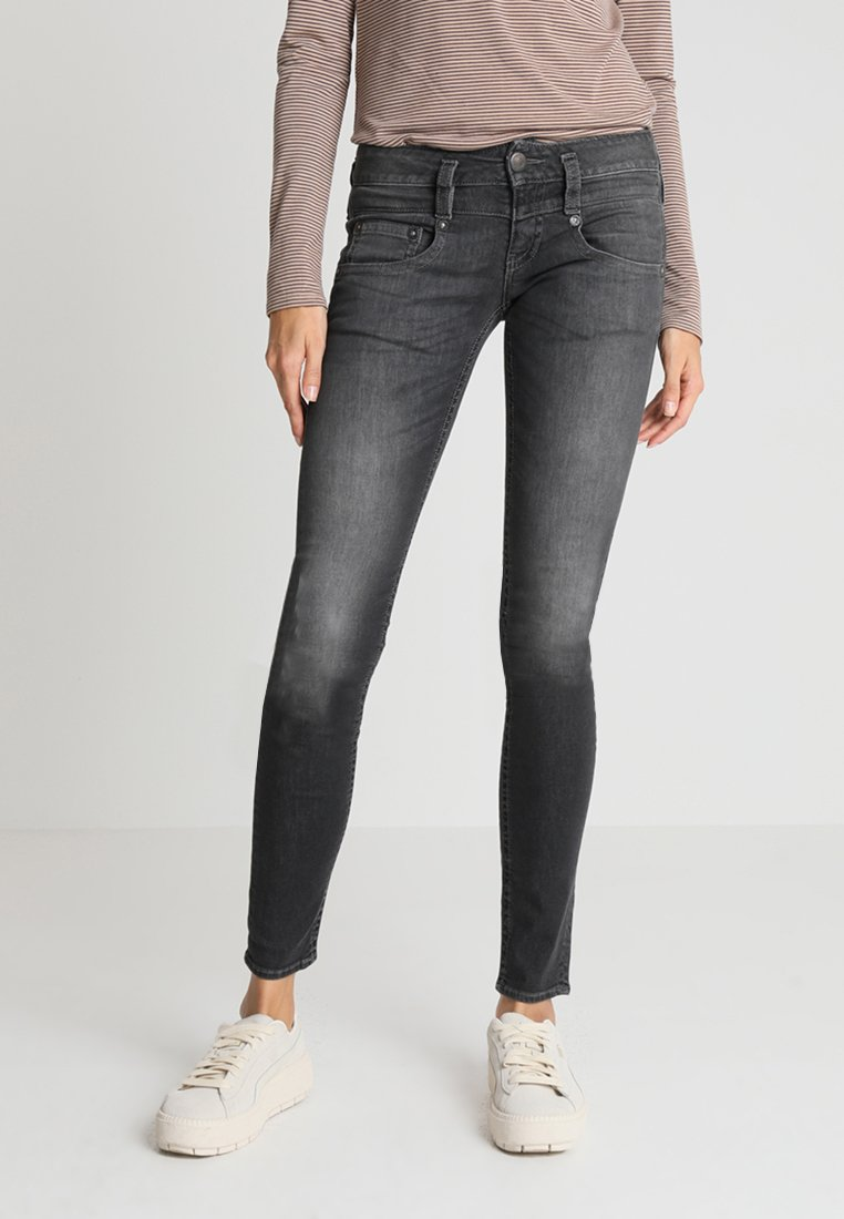 Herrlicher - PITCH SLIM - Slim fit jeans - mars black