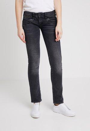 PIPER - Straight leg jeans - grey denim
