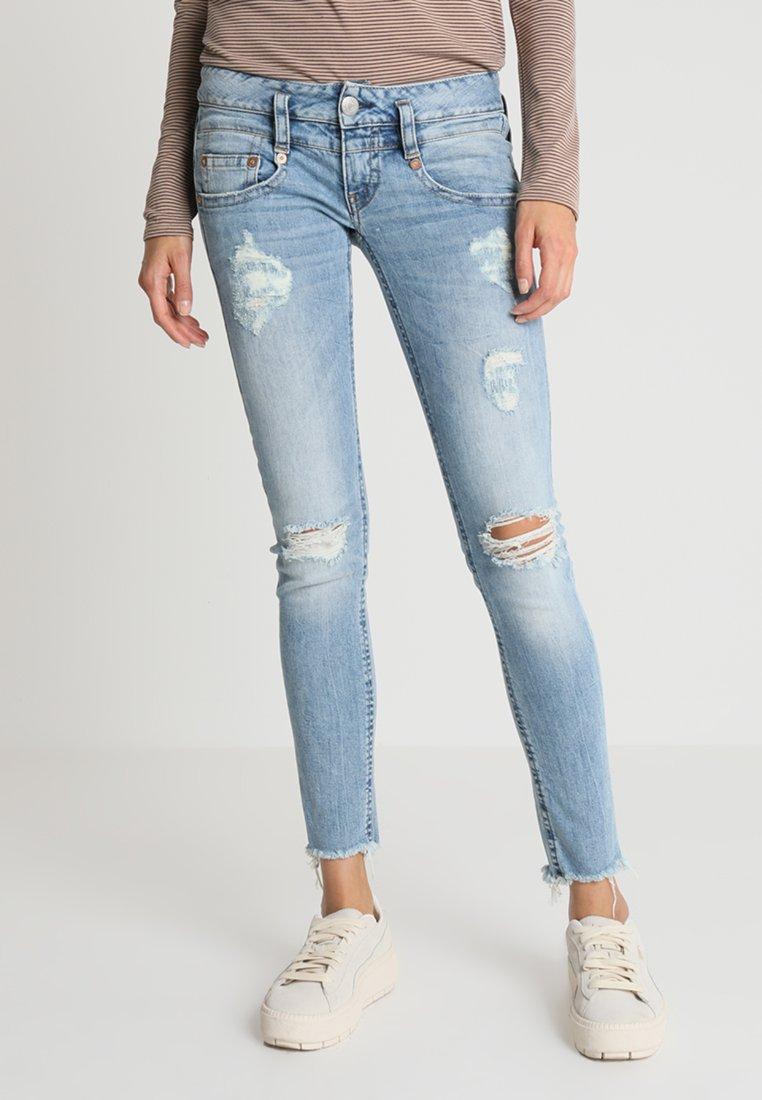 Herrlicher - PITCH SLIM CROPPED - Jeans Skinny Fit - adagio destroy